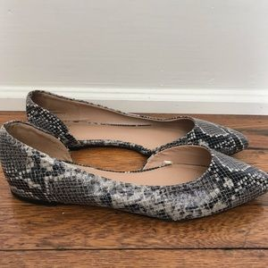 A New Day Snakeskin Cut Out Flats